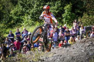 Тони Боу в Гран При на Андора по триал